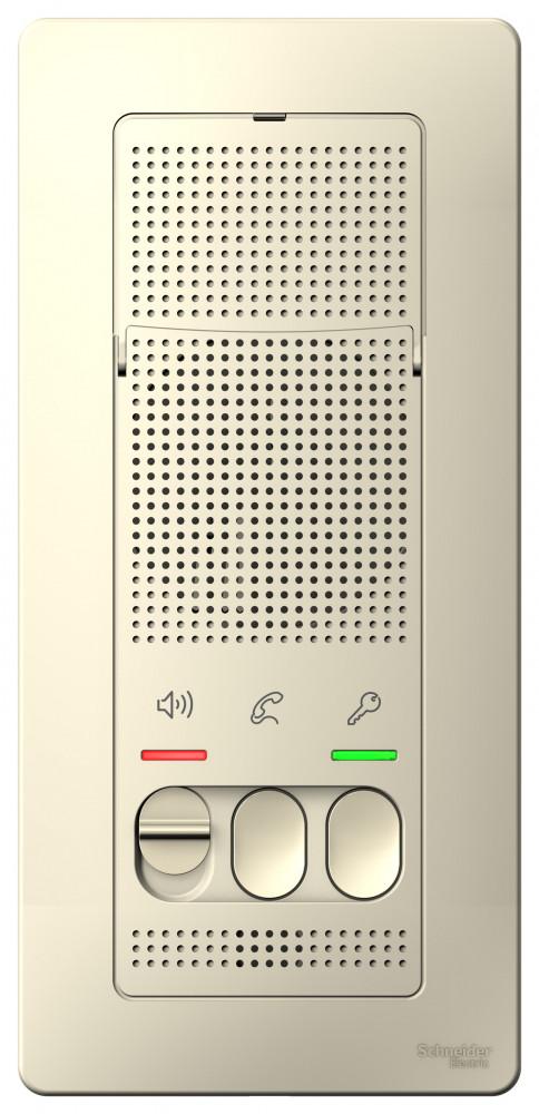 Фото BLANCA переговорное устройство (домофон), настен.монтаж, 4,5в, молочный {BLNDA000012}