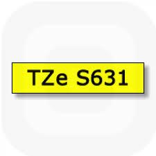 Фото Лента Brother TZE-S631 (12 мм, черный на желтом) {TZES631} (1)