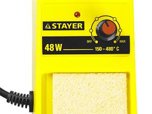 """Фото Паяльная станция аналоговая, STAYER """"MASTER"""" 55371, диапазон 150-480°C, 48Вт (1)"""