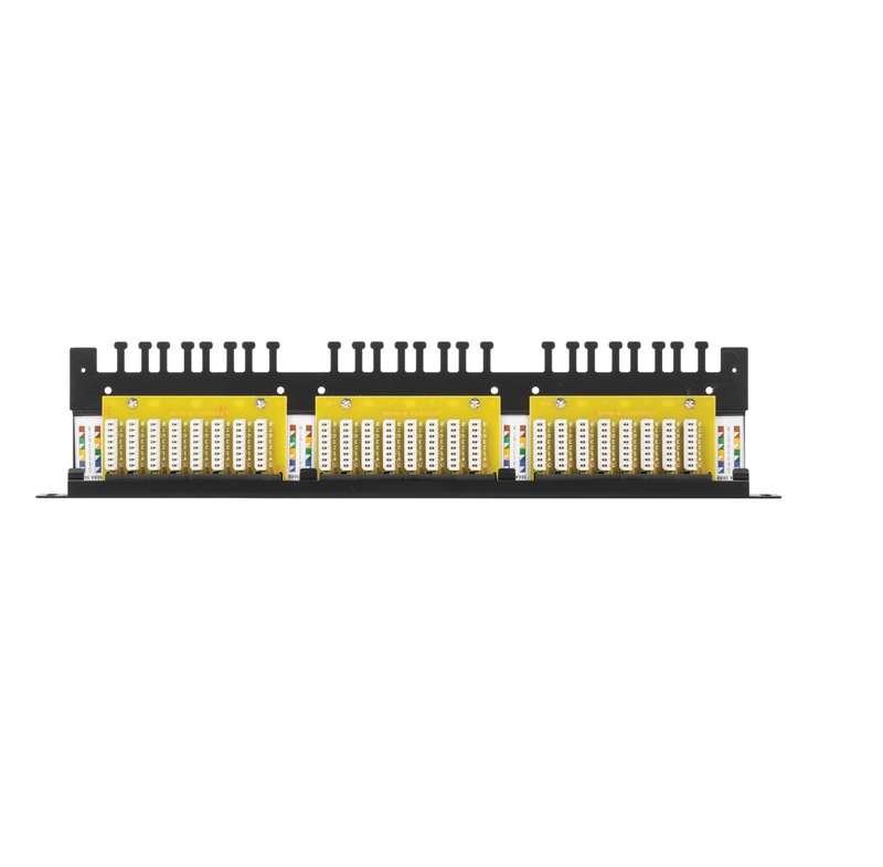 Фото Патч-панель 19дюйм 0.5U 24 порта кат.6 (класс E) 250МГц RJ45/8P8C 110/KRONE T568A/B неэкран. с органайзером черн. NIKOMAX NMC-RP24UE2-HU-BK