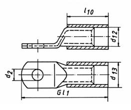 Фото Наконечники медные изолированные стандарт Klauke с контрольным отверстием 10 мм² под винт М6 {klk602R6MS} (1)