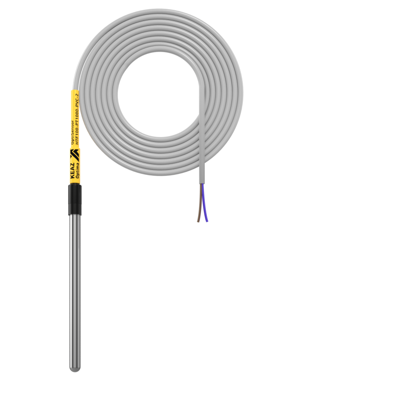 Фото Датчик температуры канальный OptiSensor HTF100-PT1000-PVC-2 КЭАЗ 286483