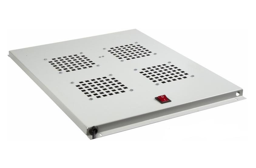 Фото Модуль вентиляторный потолочный Rexant с 4-мя вентиляторами, без термостата, для шкафов серии Standart с глубиной 800 мм {04-2601}