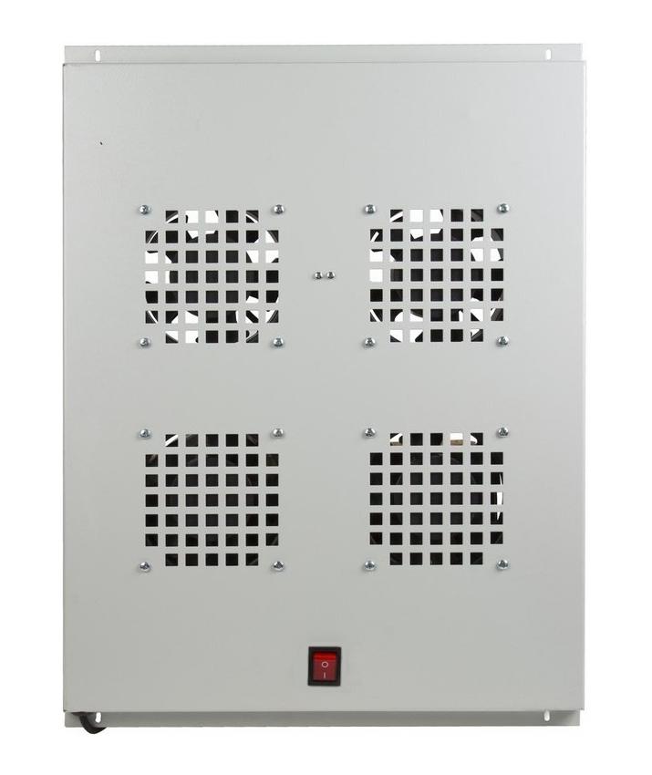 Фото Модуль вентиляторный потолочный Rexant с 4-мя вентиляторами, без термостата, для шкафов серии Standart с глубиной 800 мм {04-2601} (1)
