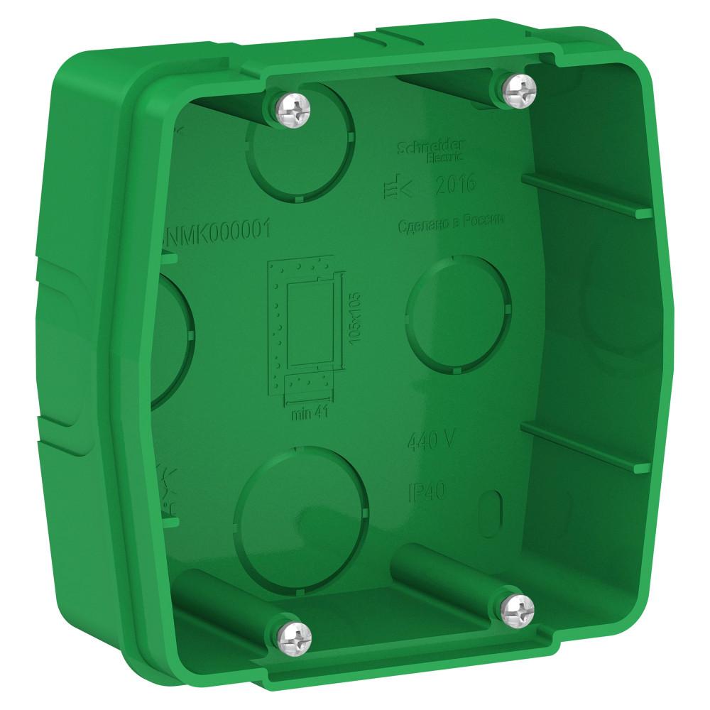 Фото BLANCA с/у коробка монтажная для силовых розеток, зеленый {BLNMK000001}