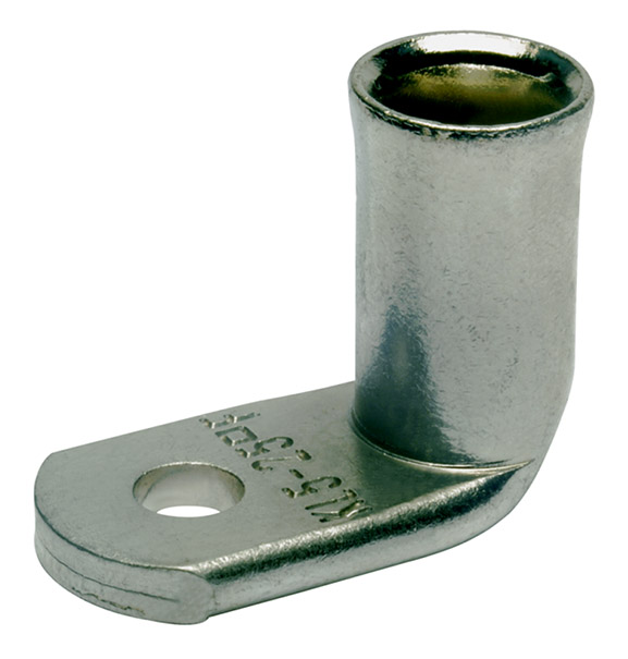 Фото Наконечники медные угловые Klauke для тонкопроволочных особогибких проводов 25 мм² под винт М10 {klk744F10}