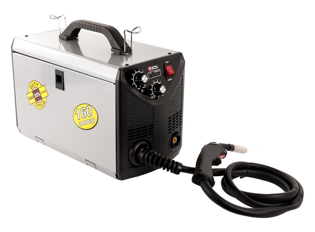 Фото Аппарат полуавтоматической сварки, инвертор Quattro Elementi i-MIG 165 (150 А, ПВ 30%, проволока 0,6-0,8 мм, 11 кг, 220 В) {770-056} (4)