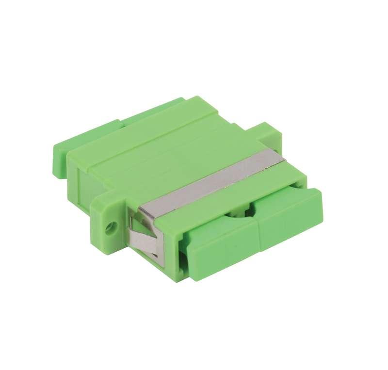 Фото Адаптер проходной SC-SC для одномодового и многомодового кабеля (SM/MM); с полировкой APC; двойного исполнения (Duplex) ITK FC1-SCASCA2C-SM