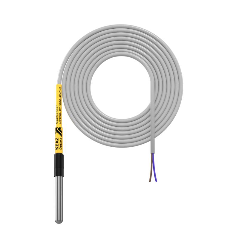 Фото Датчик температуры канальный OptiSensor HTF50-PT1000-PVC-2 КЭАЗ 284695