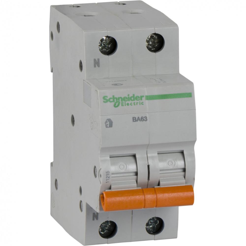 Фото Автоматический выключатель ва63 1п+н 25A C 4,5 ка, болгария/италия {11215}
