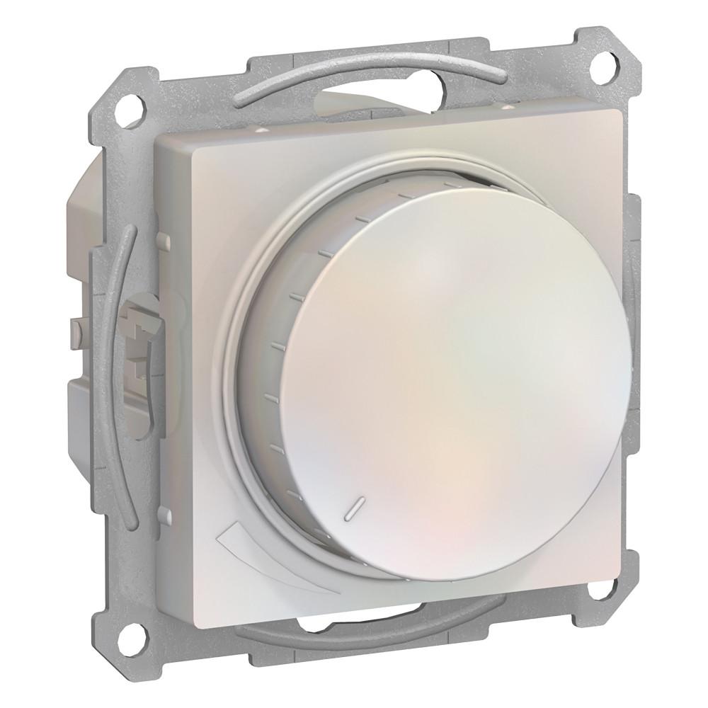 Фото Светорегулятор (диммер) поворотно-нажимной ATLASDESIGN, 630вт, мех., жемчуг {ATN000436}