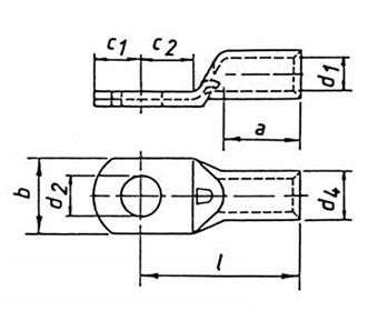 Фото Трубчатый кабельный наконечник Klauke 16 мм² под винт М16 {klk3R16} (1)