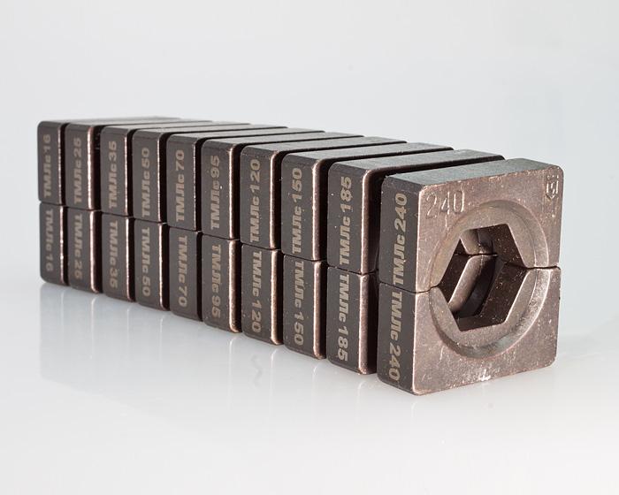 Фото Набор матриц НМ-300 ТМЛс для опрессовки медных наконечников по стандарту «КВТ» (10 шт.) {61185} (1)