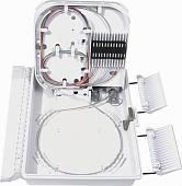 Фото Бокс оптический FO-WBI-12A-GY настенный 12 портов (SC duplex LC) без пигтейлов и проходных адаптеров IP65 250 х 190 х 39мм сер. Hyperline 358586 (1)