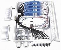 Фото Бокс оптический FO-WBI-12A-GY настенный 12 портов (SC duplex LC) без пигтейлов и проходных адаптеров IP65 250 х 190 х 39мм сер. Hyperline 358586 (2)