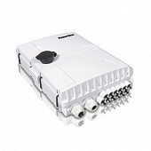Фото Бокс оптический FO-WBI-12A-GY настенный 12 портов (SC duplex LC) без пигтейлов и проходных адаптеров IP65 250 х 190 х 39мм сер. Hyperline 358586