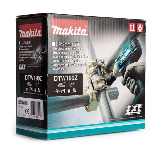 Фото Гайковерт аккумуляторный ударный Makita DTW190Z (без аккумулятора и з/у) (6)