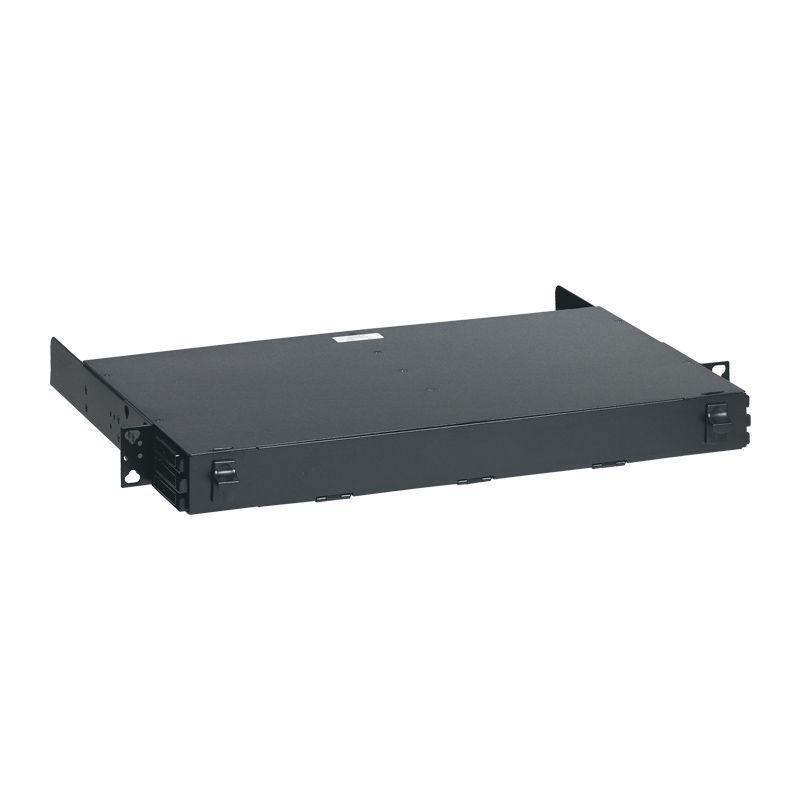 Фото Полка оптическая неукомп. модульная сверхвысокой плотности для установки кассет 19дюйм 1U без заднего кабельного органайзера Leg 032151
