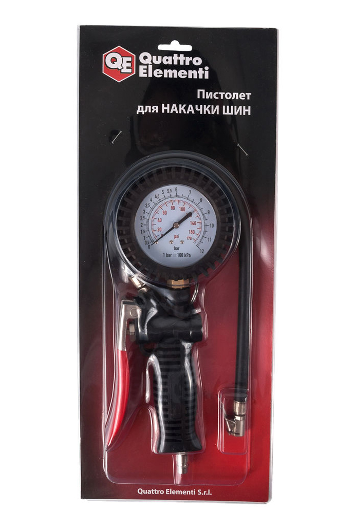 Фото Пистолет пневматический Quattro Elementi для накачки колес, разъем EURO, профи {770-926} (5)