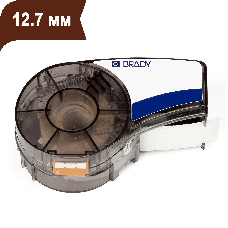 Фото Лента Brady M21-500-595-BR (12.7 мм, белый на коричневом) {brd139736}