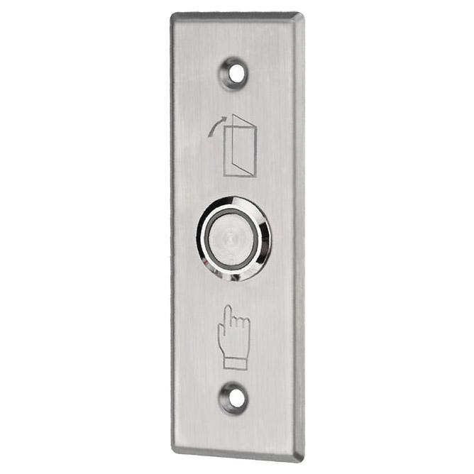 Фото Кнопка «Выход» металлическая с синей подсветкой SB-60 врезного типа {45-0961}