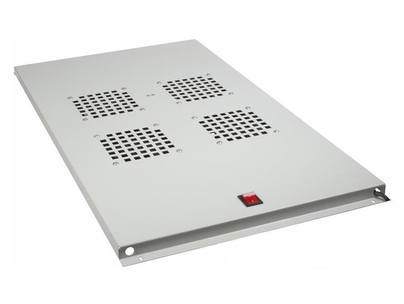 Фото Модуль вентиляторный потолочный Rexant с 4-мя вентиляторами, без термостата, для шкафов серии Standart с глубиной 1000 мм {04-2602}