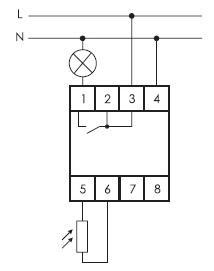 Фото Фотореле AZ-B (выносной герметичный фотодатчик IP65 монтаж на DIN-рейке 2 модуля 230В 16А 1НО IP20)(аналог ФР-7Е) F&F EA01.001.009 (2)