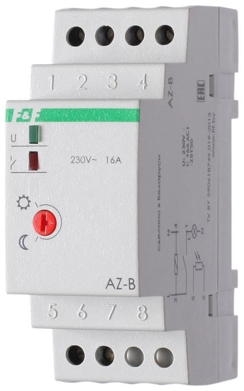 Фото Фотореле AZ-B (выносной герметичный фотодатчик IP65 монтаж на DIN-рейке 2 модуля 230В 16А 1НО IP20)(аналог ФР-7Е) F&F EA01.001.009 (1)