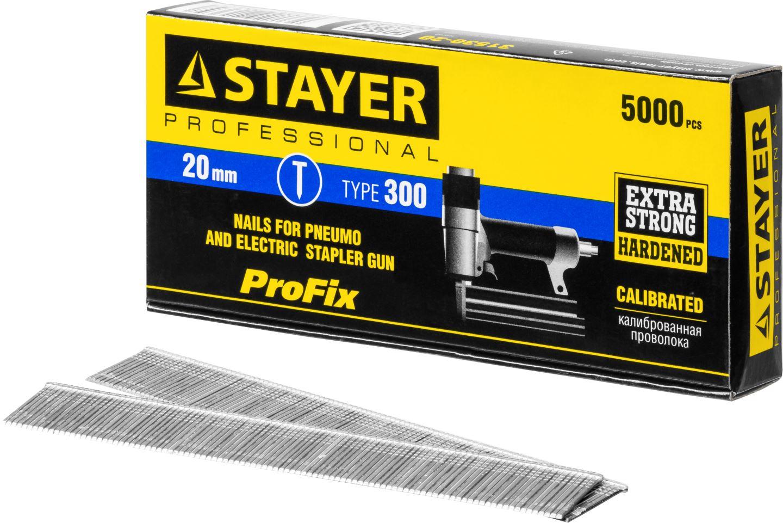 Фото STAYER 20 мм гвозди для нейлера тип 300, 5000 шт {31530-20} (3)