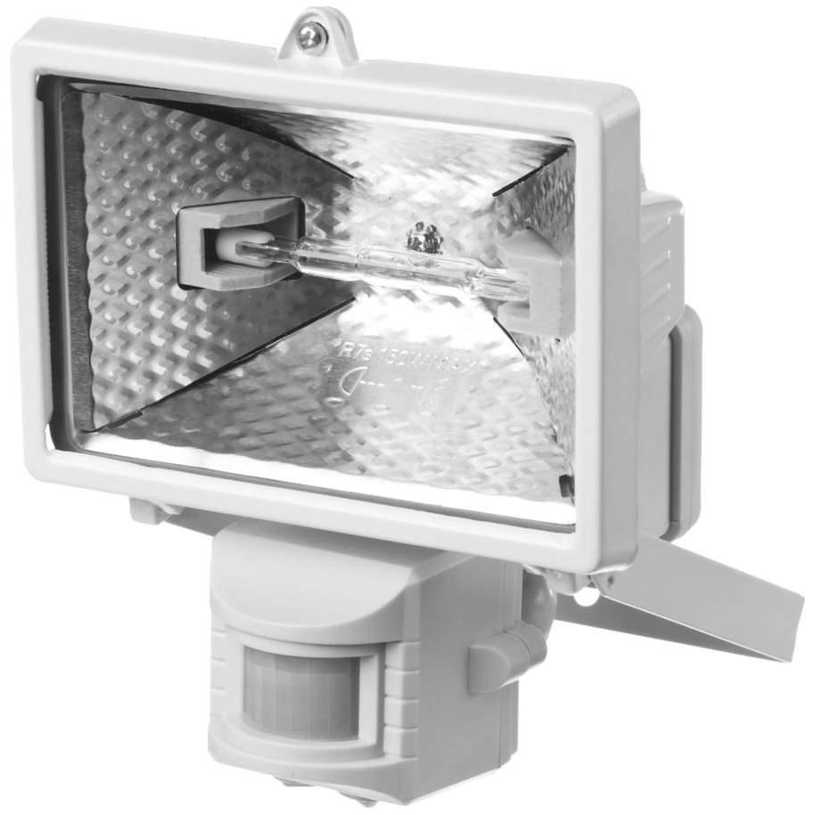 Фото STAYER MAXLight прожектор 150 Вт галогенный, с датчиком движения, белый {57111-W}