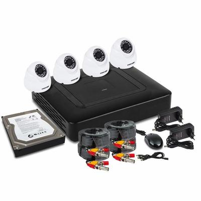 Фото Комплект видеонаблюдения ProConnect, на 4 внутренние камеры AHD-M (с HDD) {45-0413}
