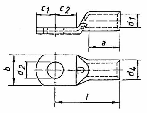Фото Наконечник трубчатый медный Klauke кольцевого типа 4 мм² под винт М5 {klk94R5} (1)