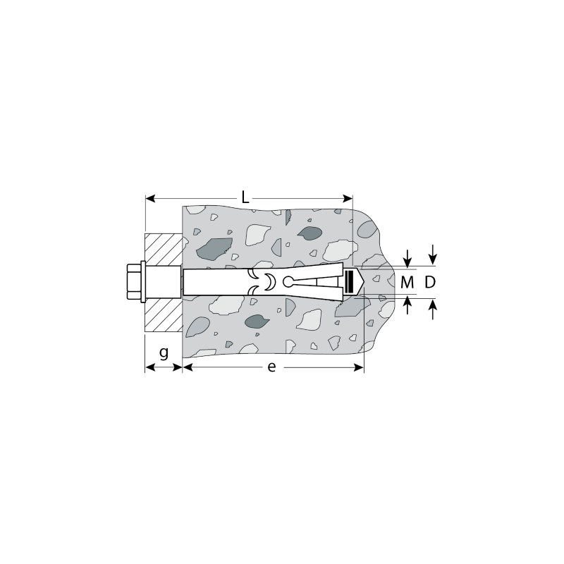 Фото Болт анкерный с пластиковым кольцом, 12х110 мм, 15 шт, желтопассивированный, ЗУБР {4-302312-12-110} (1)