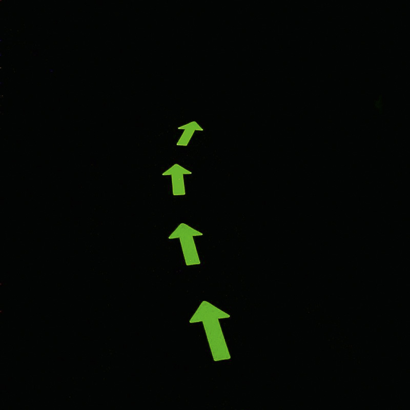 """Фото Противоскользящий напольный знак """"Стрелки"""", фотолюминесцентный (130 x 280мм) (1 шт.) {M1NP130280}"""