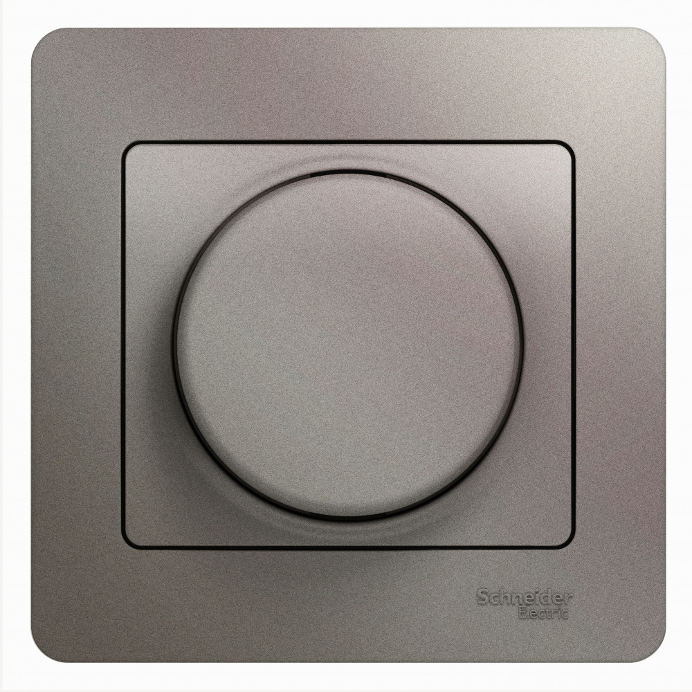 Фото Светорегулятор GLOSSA (диммер) поворотный, 300вт, в сборе, платина {GSL001234}