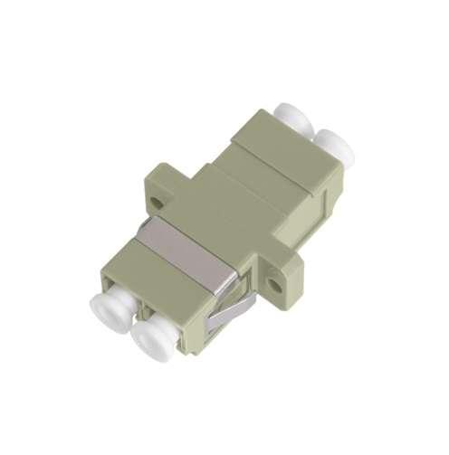 Фото Адаптер волоконно-оптический соед. многомод. LC/UPC-LC/UPC двойн. пласт. беж. (уп.2шт) NIKOMAX NMF-OA2MM-LCU-LCU-2