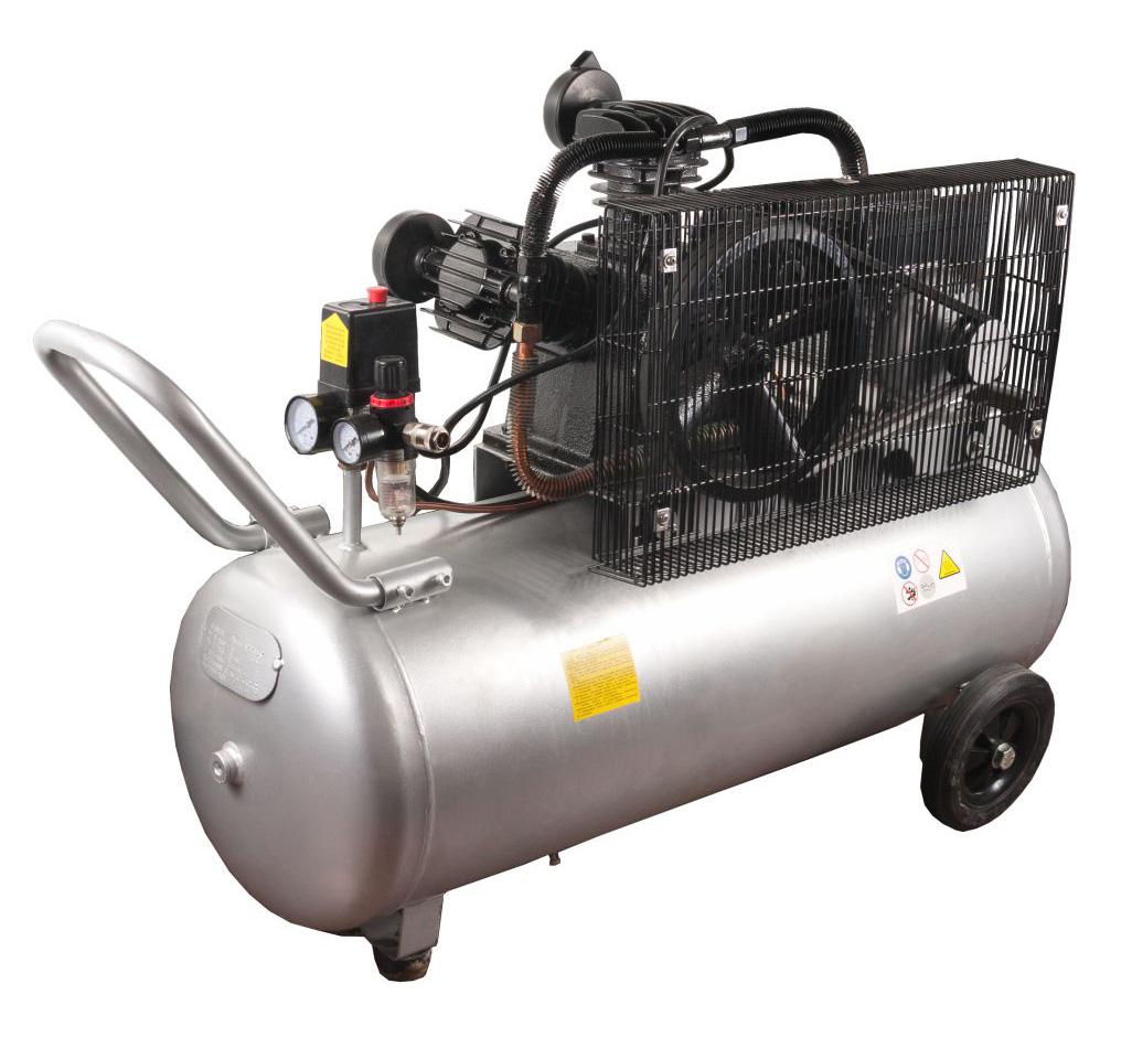 Фото Компрессор поршневой масляный Quattro Elementi BW-500-100 (490 л/мин, 100 литров, 3,0 л.с, 8 бар, 74,5 кг, V-образный/ Ременной) {771-725} (3)