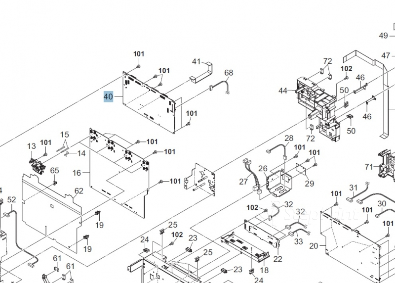 Фото Плата управления двигателями Kyocera 302MN94061 для ECOSYS FS-C8600DN/ECOSYS FS-C8650DN