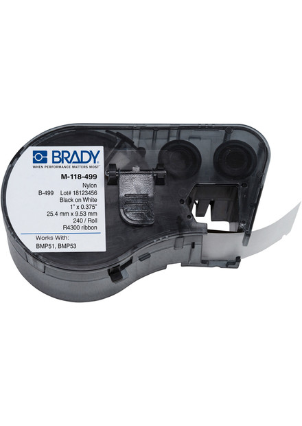 Фото Лента Brady MC1-1000-422 (25,40 mm) черн/бел {brd131595}