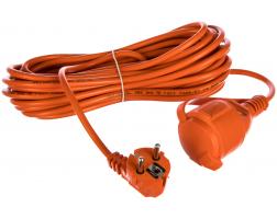 Фото Удлинитель-шнур PROconnect ПВС 3х0.75, 20 м, с/з, 6 А, 1300 Вт, IP44, оранжевый (Сделано в России) {11-7109}