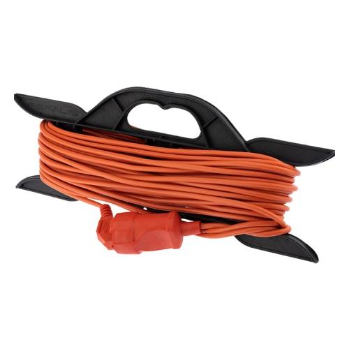 Фото Удлинитель-шнур на рамке PROconnect ПВС 2х0.75, 20 м, б/з, 6 А, 1300 Вт, IP20, оранжевый (Сделано в {11-7112}