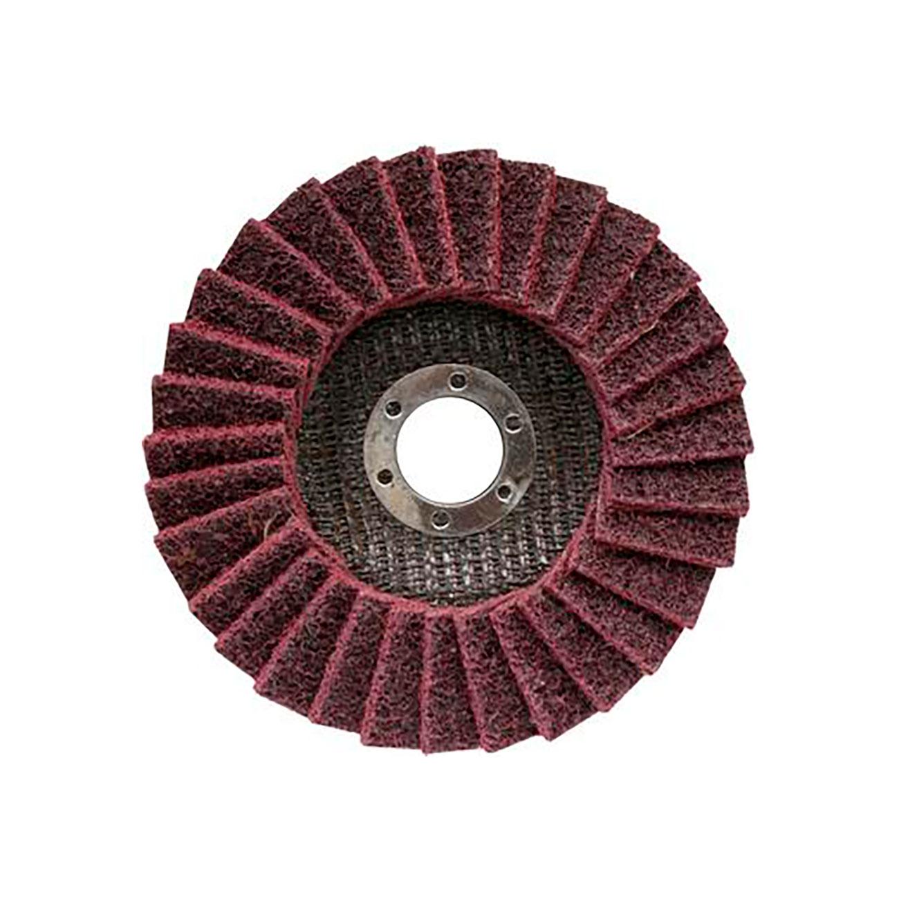 Фото Круг лепестковый полировальный Практика Эксперт, для металла, войлочный, абразивный, средний, 125 х 22 мм {779-202} (1)