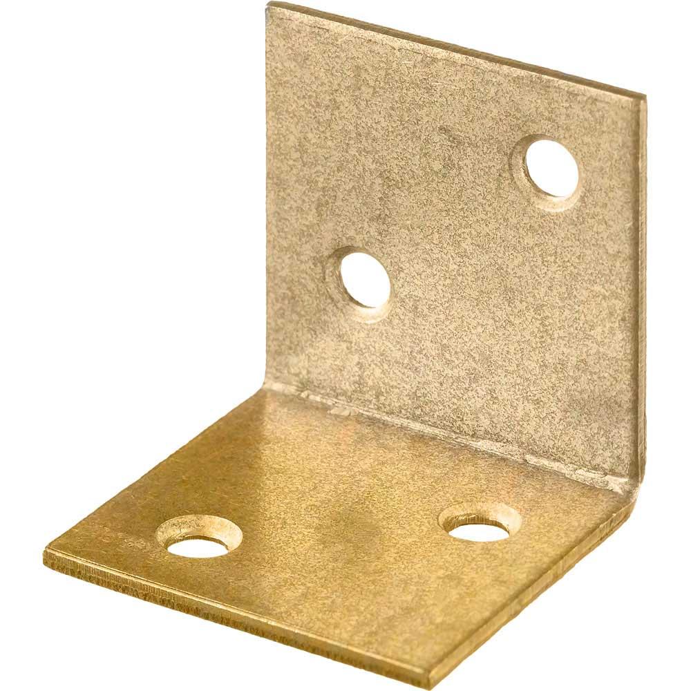 Фото Уголок мебельный широкий УМШ-2.0, 25х25х25 х 2мм, желтый цинк, ЗУБР {31033-25}