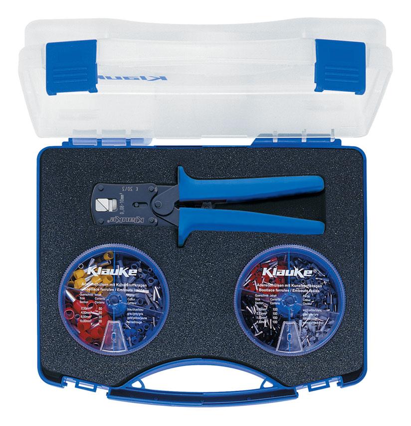 Фото Набор пресс-клещи K30/3 и втулочные наконечники Klauke 0,5-10 мм² {klkSK303S}