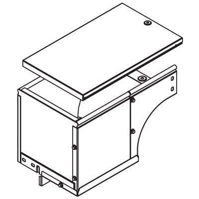 Фото Угол для лотка вертикальный внешний прав. 90град. 600х50 CDSD 90 в комплекте с крепеж. элементами цинк-ламель DKC 37508KZL