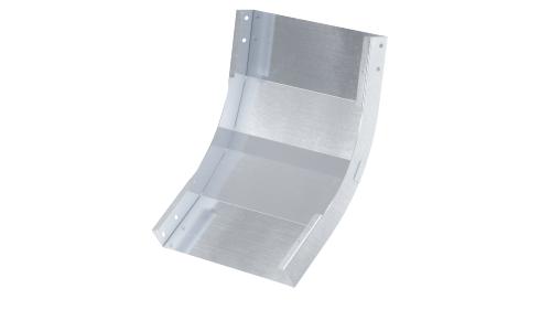 Фото Угол для лотка вертикальный внутренний 45град. 80х100 1.5мм нерж. сталь AISI 304 в комплекте с крепеж. эл. DKC ISKM810KC