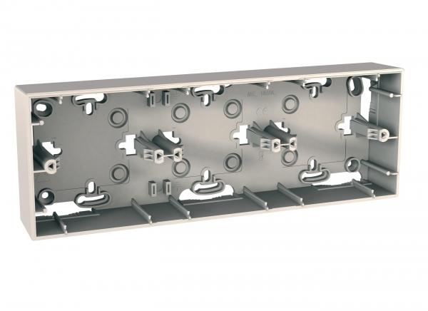 Фото UNICA коробка для открытой установки, 3-постовая, бежевый {MGU8.006.25}