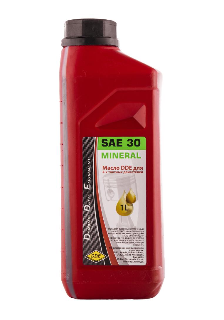 Фото Масло 4-х тактное SAE30 DDE, API SJ/CF (1 л) минеральное {M-SAE30}