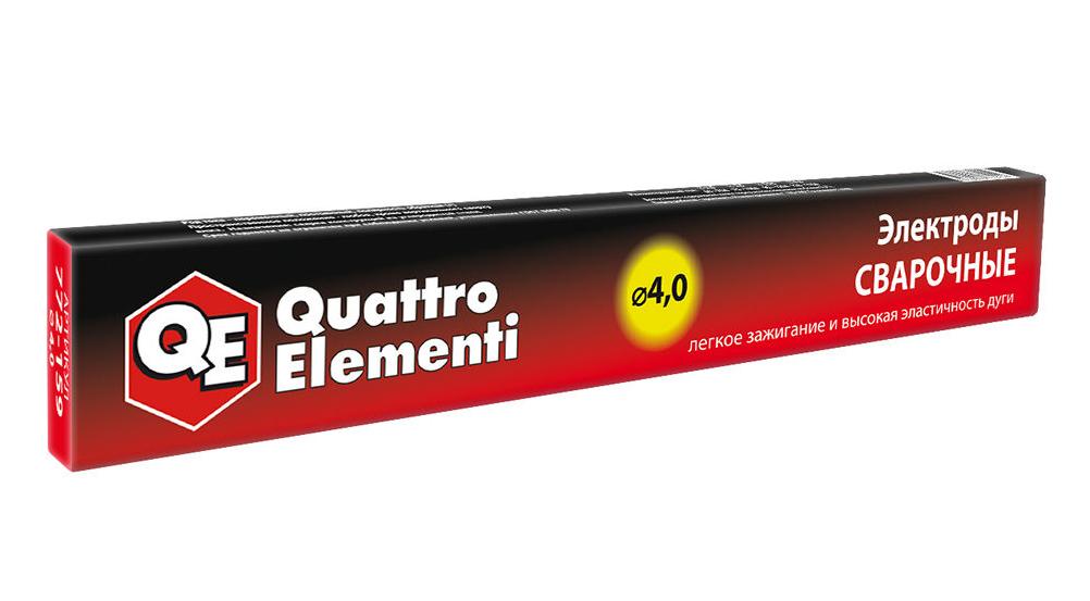 Фото Электроды сварочные Quattro Elementi рутиловые, 4.0 мм, масса 0.9 кг {772-159}