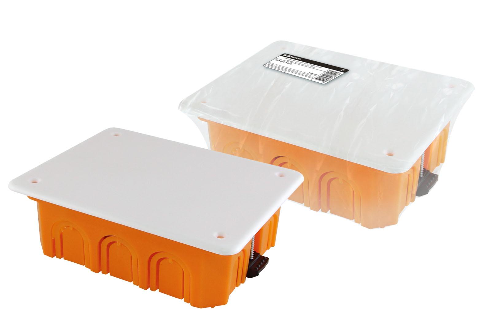 Фото Распаячная коробка СП 120х92х45мм, крышка, пл. лапки, IP20, инд. штрихкод, TDM {SQ1403-1028}
